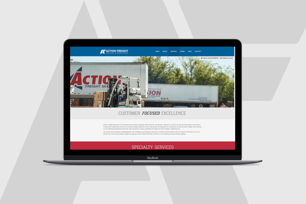 Action Freight, Web Design