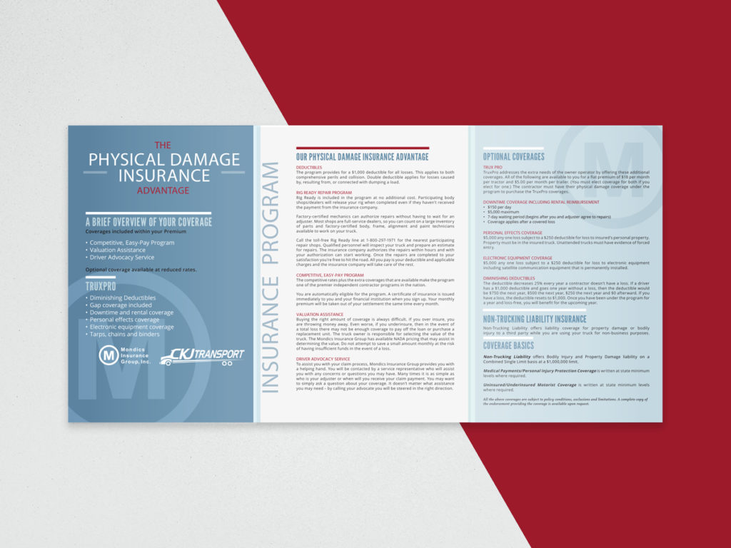 Mondics Insurance, Brochure Design, Graphic Design