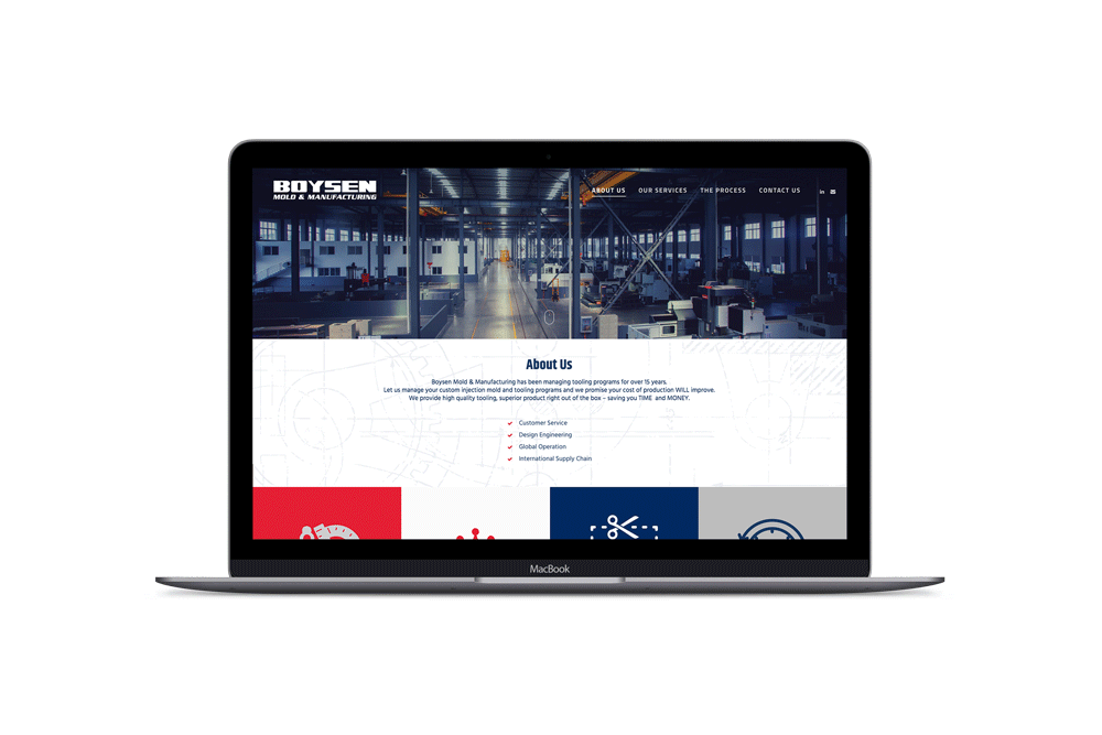 Boysen MFG, Web Design