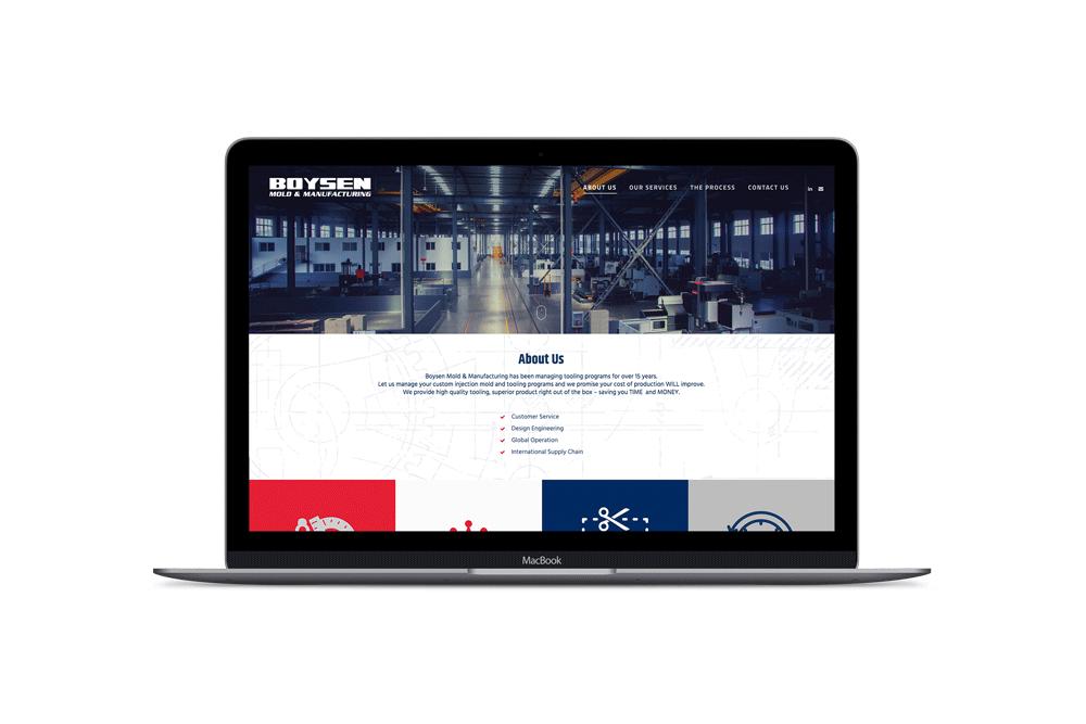 Boysen MFG, Web Design
