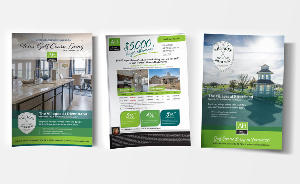 Avex Homes, Graphic Design, Advertising