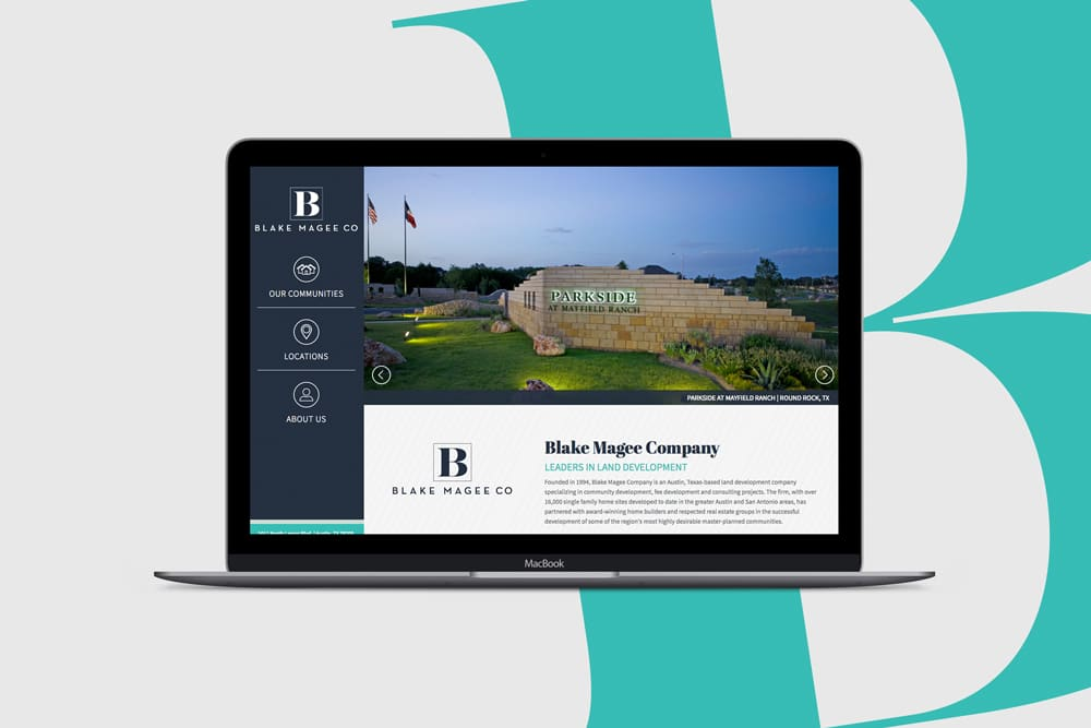 Blake Magee Co, Web Design