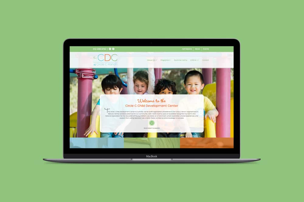The Child Development Center, Web Design
